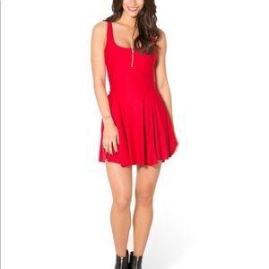 Matte Red Evil Zip dress